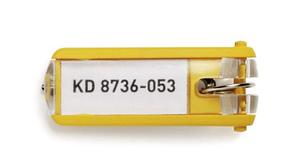 """Брелок для ключей """"Durable Key Clip"""", жёлтый, 6 штук в пакете"""