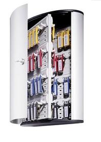 "Настенная металлическая ключница ""Durable Key Box"", на 72 ключа, серебристая"