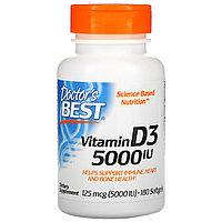 Doctor's Best, витамин D3, 125 мкг (5 000 МЕ), 180 мягких капсул