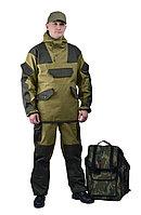 Костюм мужской Горка-4 Анорак, летний, палатка 270 г/м2, хаки, 100% хлопок, размер 52-54