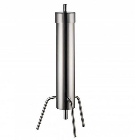 """Угольная колонна на клампе 2"""" (в комплекте также хомут и силиконовая прокладка, отводы 8 мм)"""