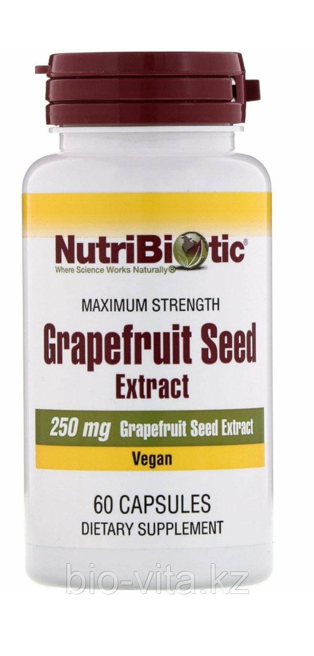 Экстракт грейпфрутовой косточки в капсулах. 250 мг. 60 капсул. Природный антибиотик.