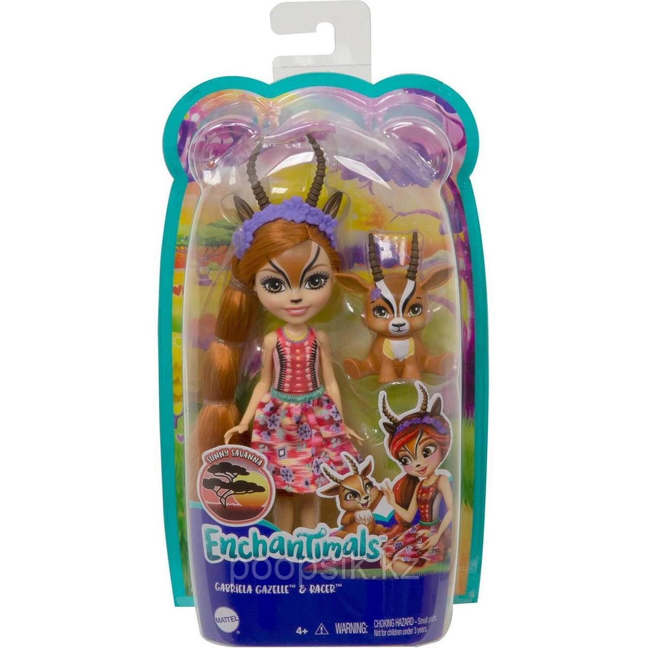 Кукла Enchantimals Газель Габриелла и питомец Рейсер - фото 2