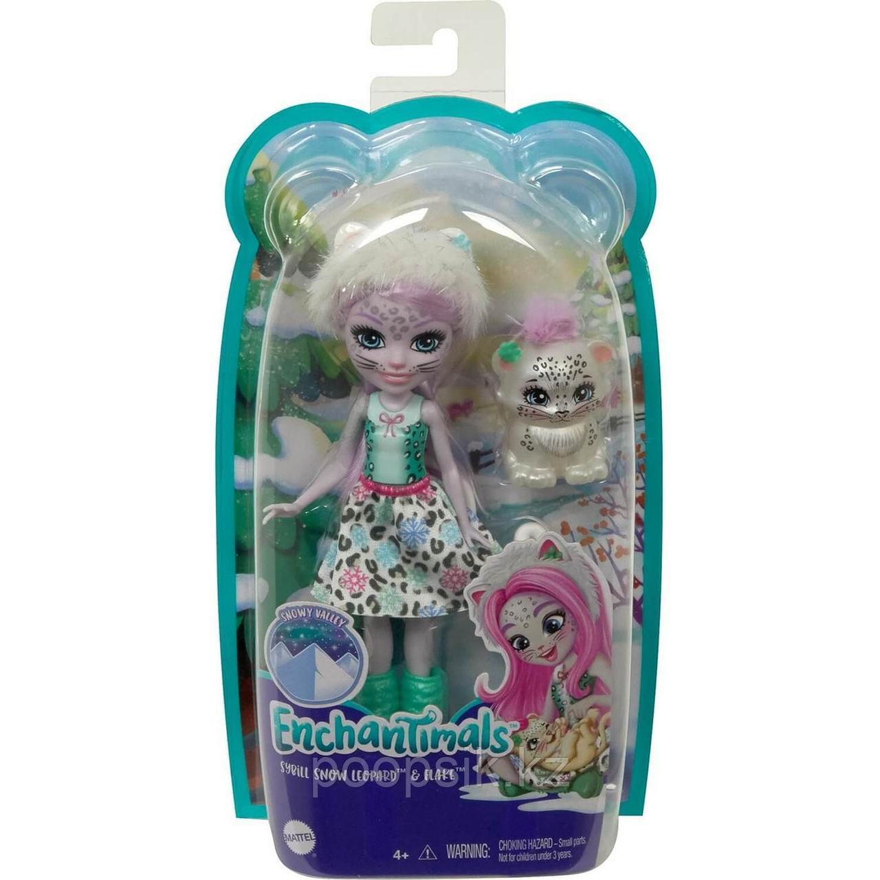 Кукла Enchantimals Снежная Леопарди Сибилла и Флейк - фото 2