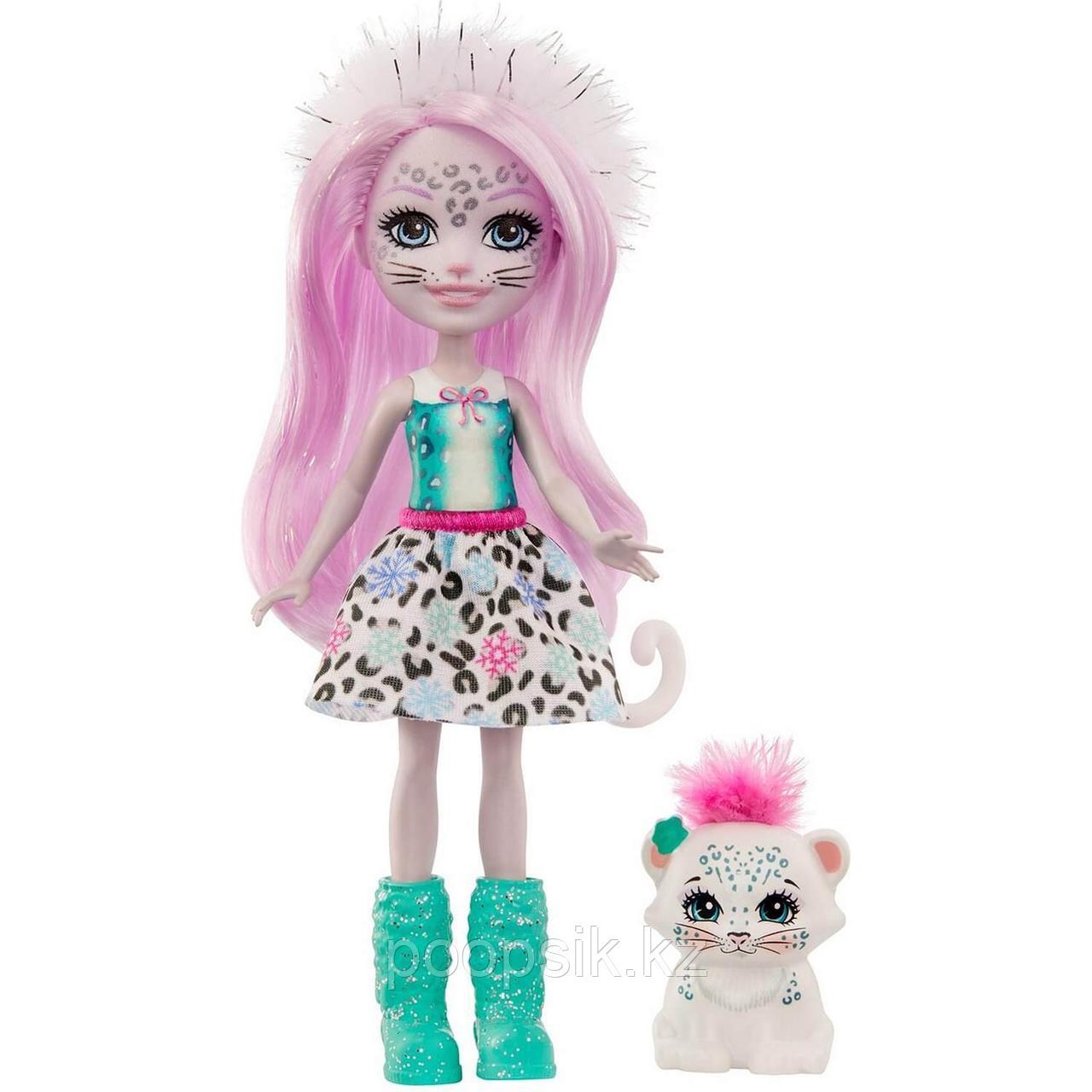 Кукла Enchantimals Снежная Леопарди Сибилла и Флейк - фото 1
