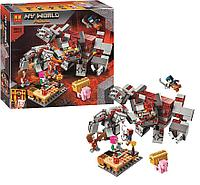 Конструктор LARI Minecraft Битва за красную пыль 11514 (Аналог LEGO Minecraft 21163)