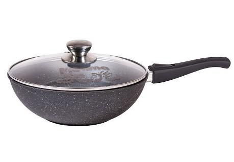 Cковорода-вок Мечта Granit 28 см. со съемной ручкой и стекл. крышкой