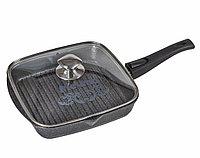 Cковорода-гриль Мечта Granit 24 см. со съемной ручкой и стеклянной крышкой