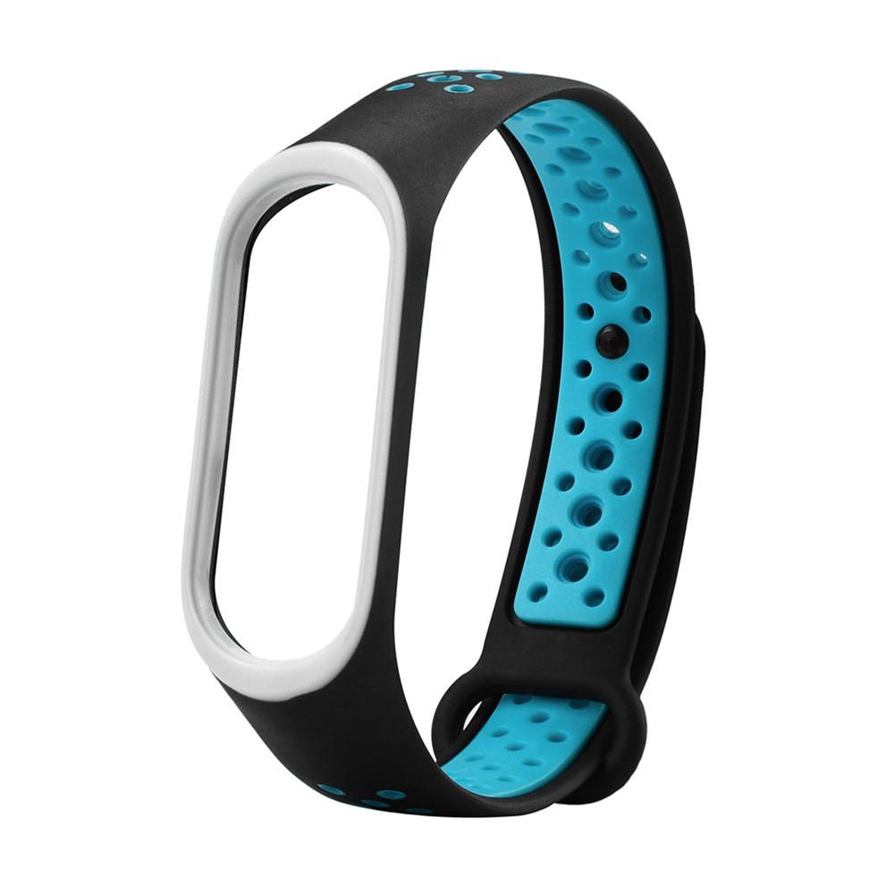 Ремешок для смарт-браслетов Xiaomi Mi Band 3/Mi Band 4, sports series silicone, Copy, Black/Blue