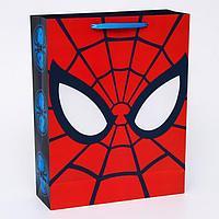 """Пакет ламинированный вертикальный """"Ты- супергерой"""", Человек-паук, 31 х 40 х 11 см"""
