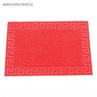 "Коврик ""Spongy"" Меандр 40х60 см, цвет красный"