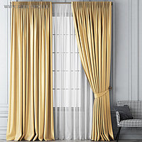 Комплект штор «Шанти», размер 170 х 270 см, золотой