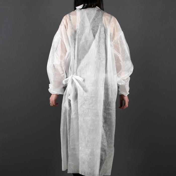 Халат хирургический на завязках, манжета на резинке 25 г/м2, размер 50-54, длина 140 см - фото 2