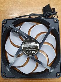 Кулер для компьютерного корпуса GameMAX 140мм. 12VDC, 1100, RPM/46.5 CFM/23.5dB (A), 0.15A, Black