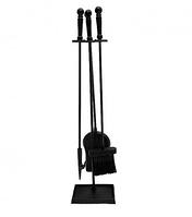 Набор для камина 4 предмета на подставке