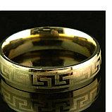 """Кольцо обручальное """"Wedding ring"""" позолота, фото 2"""