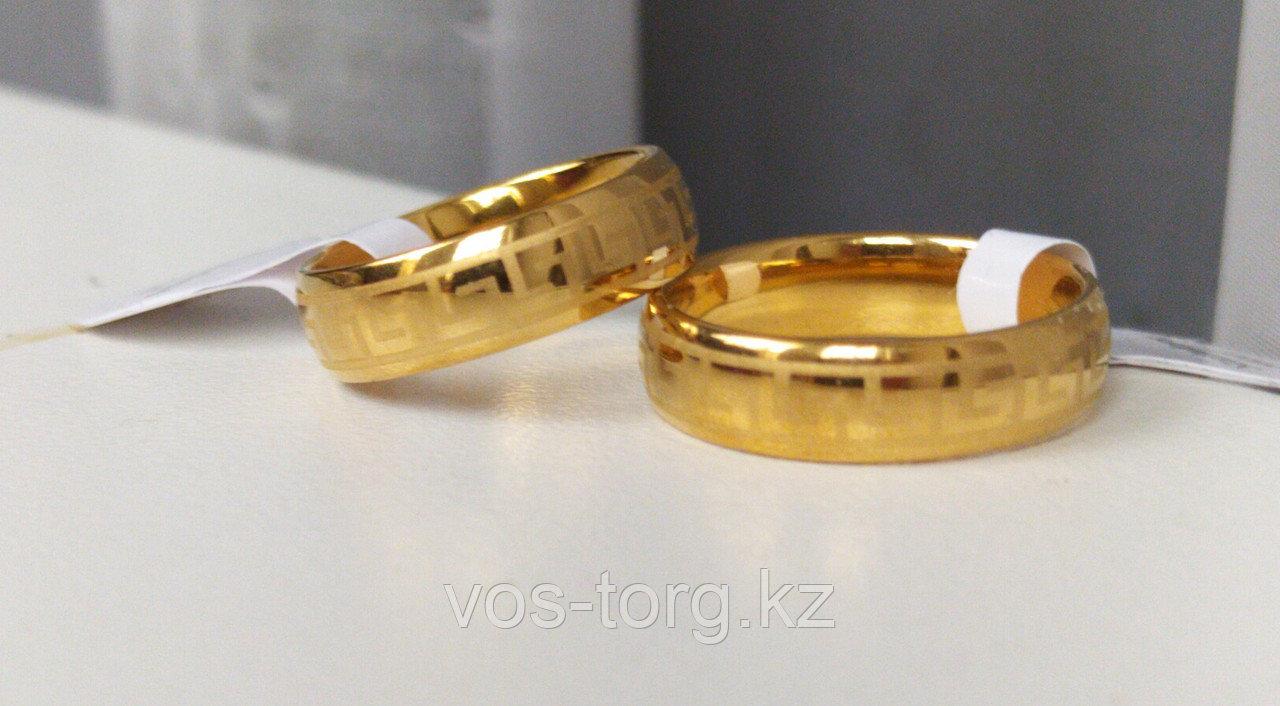 """Кольцо обручальное """"Wedding ring"""" позолота - фото 6"""