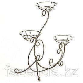 Подставка под цветы напольная Тройка  на 3 горшка