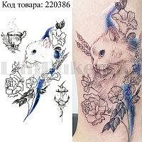 Временное тату Tattoo кошка 210х150 mm TH-174