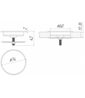 Shelbi Беспроводное зарядное устройство в столешницу 2А, 60 мм, с USB-кабелем, фото 2