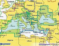 Карта Navionics Plus 43XG Средиземное море, Черное и Азовское моря Артикул: 4629