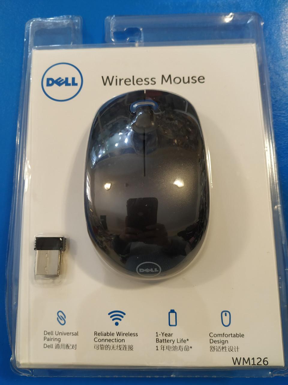 Мышка беспроводная DELL, оптическая, 1200 DPI