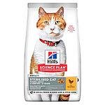 Hill's Sterilised для стерилизованных кошек и кастрированных котов, курица, уп.1,5 кг