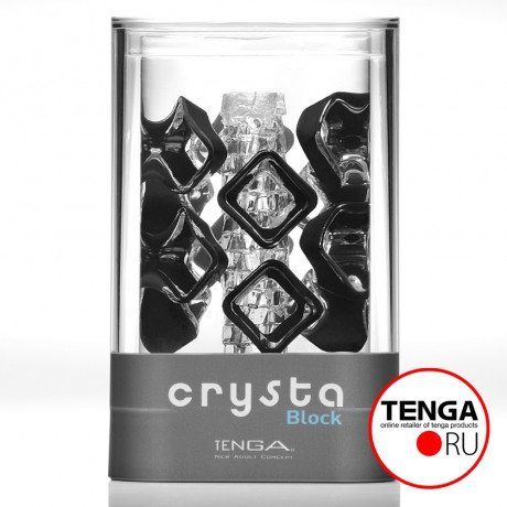 Мастурбатор Crysta Block от Tenga