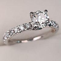 Сертификат GIA 1,41Сt I1/J G-Cut Золотое кольцо с бриллиантами, фото 1
