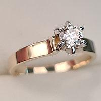Золотое кольцо с бриллиантами 0,50Сt I1/L VG-Cut, фото 1