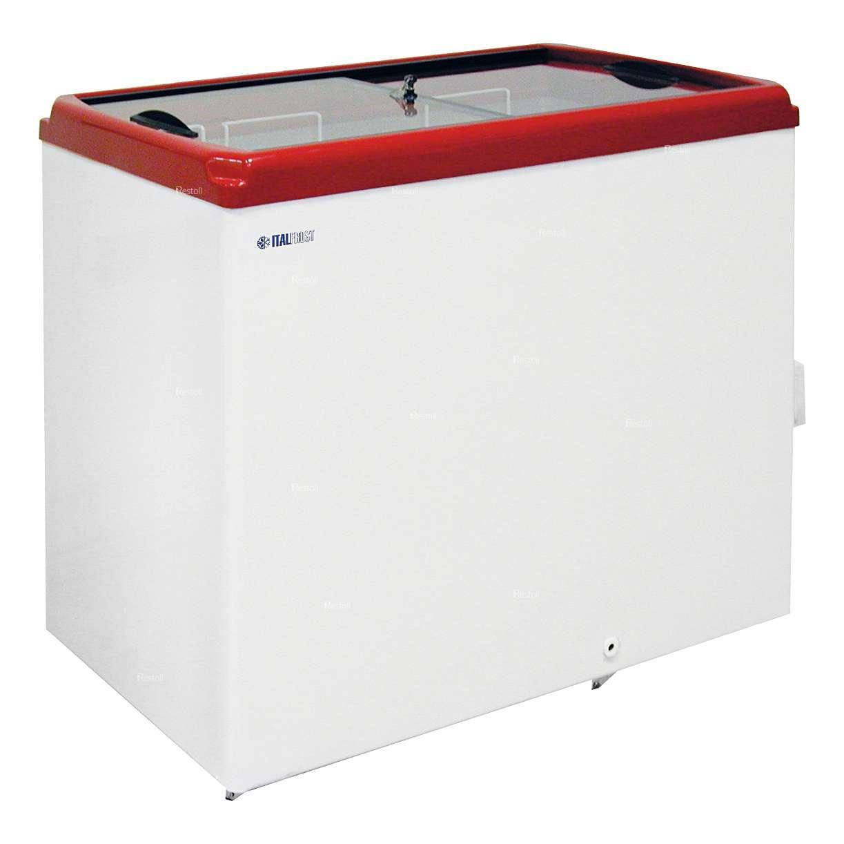 Ларь морозильный Italfrost CF300F (ЛВН 300 П) красный