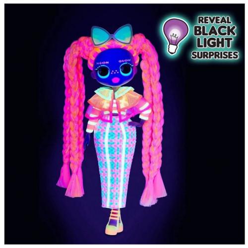 LOL OMG Lights Светящаяся Кукла Неон ЛОЛ ОМГ Даззл (Dazzle), 3 серия, ЛОЛ Сюрприз