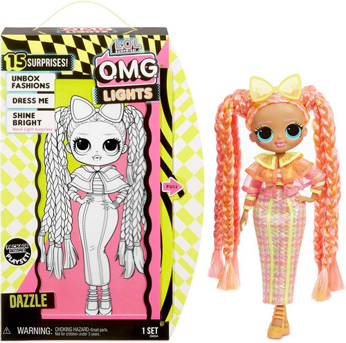 LOL OMG Lights Светящаяся Кукла Неон ЛОЛ ОМГ Даззл (Dazzle), 3 серия, ЛОЛ Сюрприз - фото 2