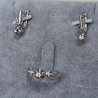 Серьги и кольцо с бриллиантом