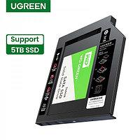 Бокс для установки жесткого диска в отсек DVD ноутбука 9,5мм (70657) UGREEN
