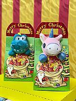 Подарочек мягкая игрушка +сладости Merry Cristmas