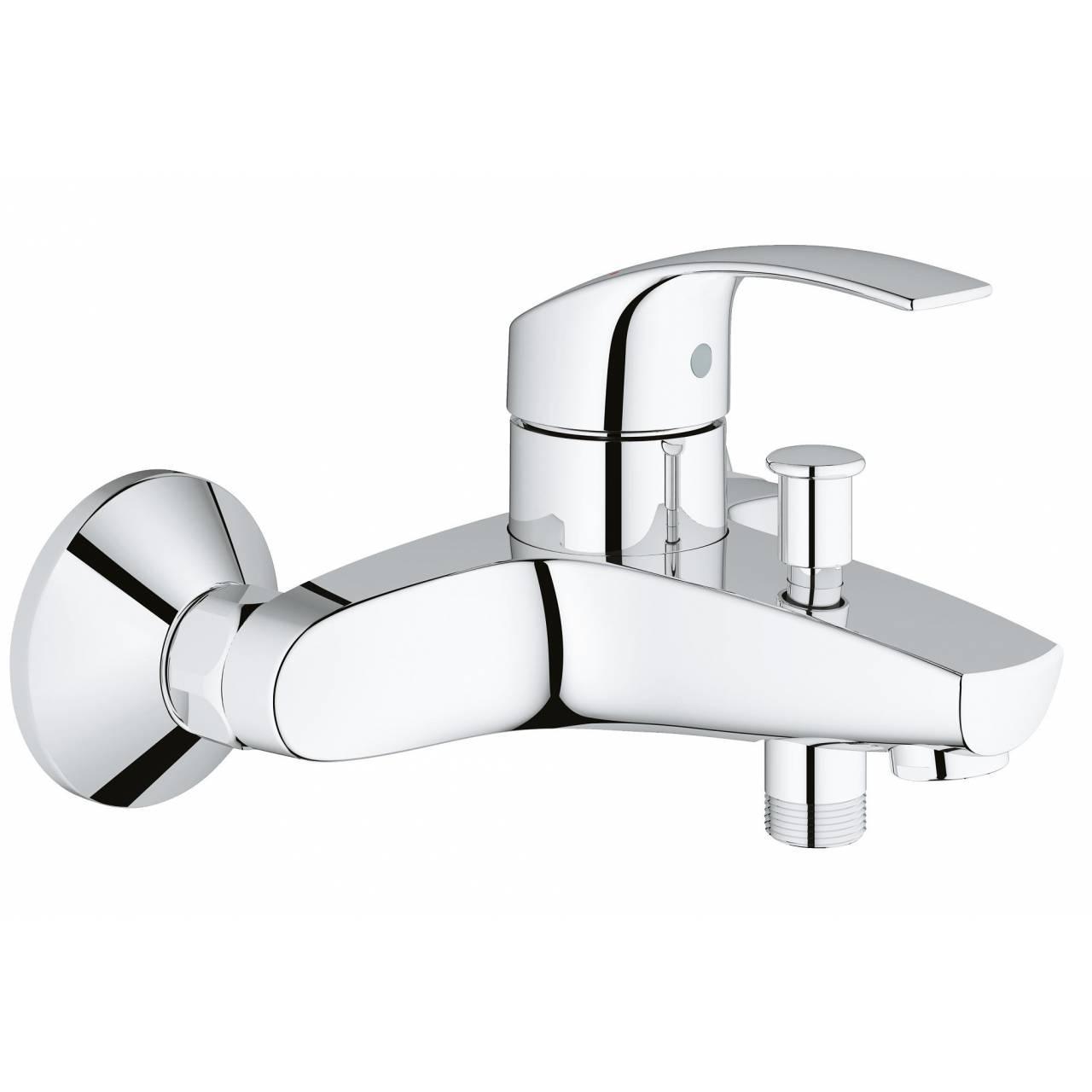 Смеситель GROHE Eurosmart New для ванны с душем, короткий излив