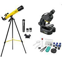 Набор Bresser National Geographic: телескоп 45/600 AZ и микроскоп 40 640x Артикул: 40042