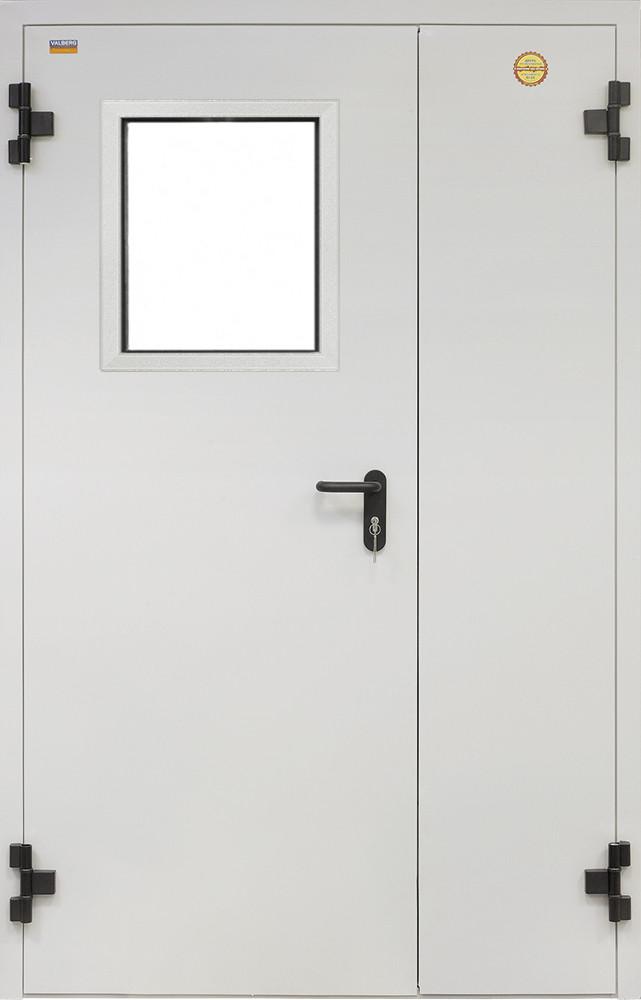 Противопожарная дверь серии ДПC-2 со стеклом