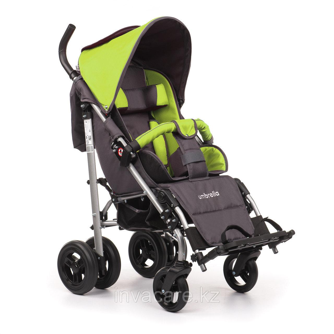 Коляска для детей с ДЦП UMBRELLA размер 2, литые колёса, складная,16,3 кг, нагрузка до 50 кг
