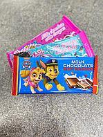 Шоколад молочный c разноцветным драже в ассортименте (LOL, щенячий патруль), фото 1