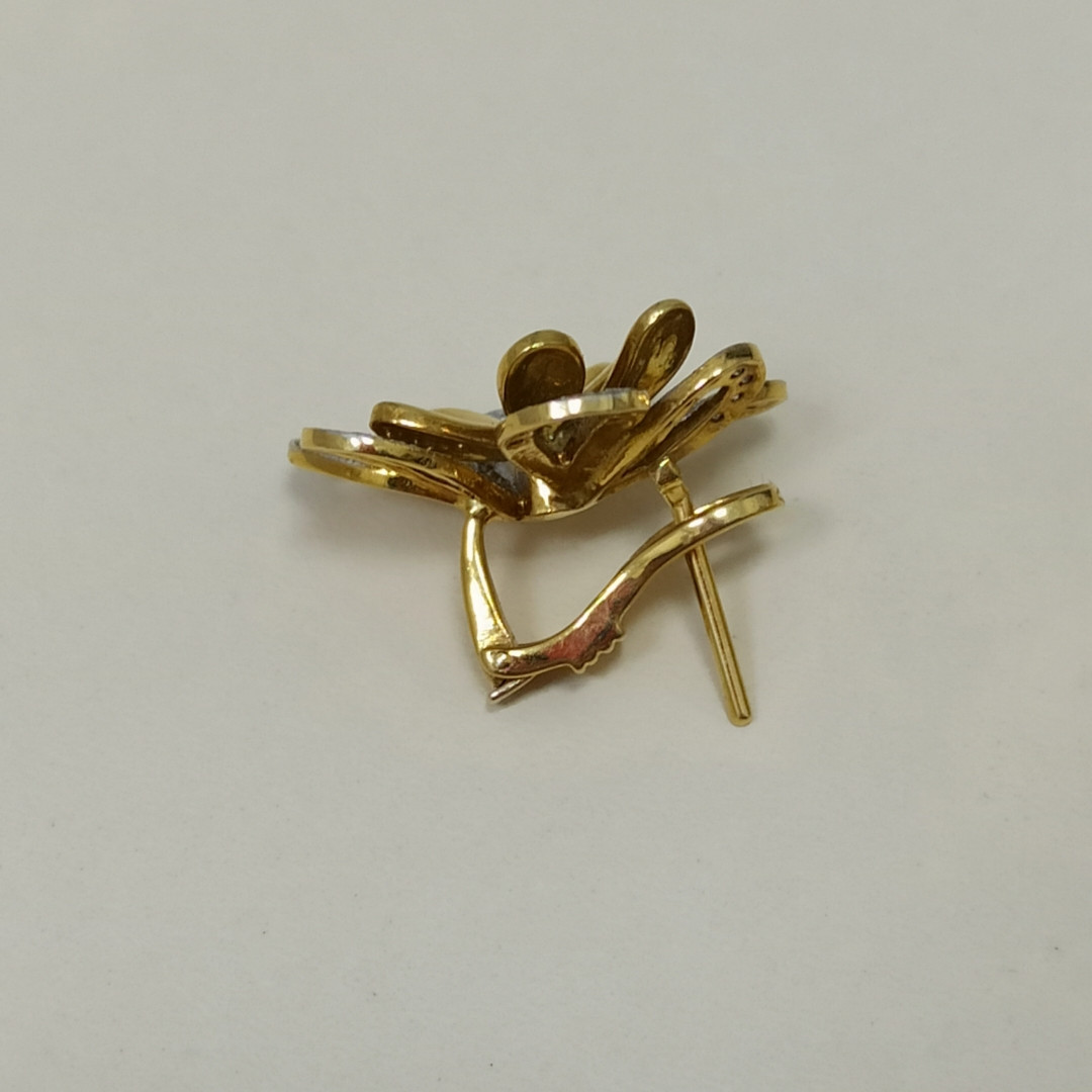 Золотой комплект с бриллиантами - фото 5