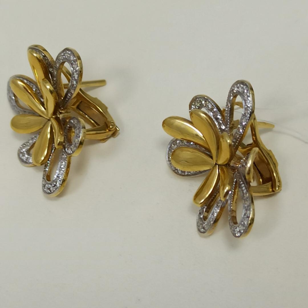 Золотой комплект с бриллиантами - фото 4