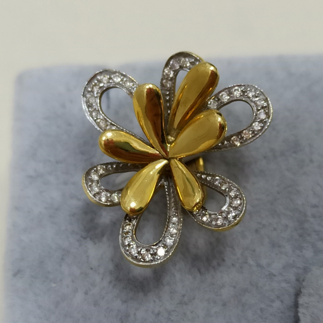 Золотой комплект с бриллиантами - фото 3