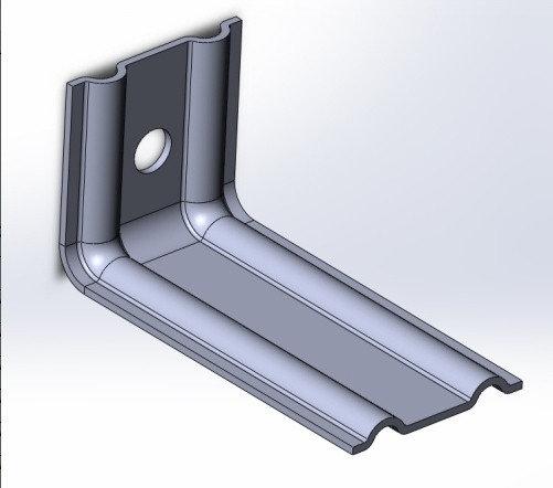 Оцинкованные фасадные кронштейны c полимерным покрытием 50*50*50мм