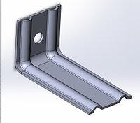 Оцинкованные фасадные кронштейны c полимерным покрытием 50*50*120мм