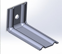 Оцинкованные фасадные кронштейны c полимерным покрытием 70*70*230мм
