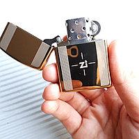 """Зажигалка """"Zippo"""" золотистая, в подарочной коробке., фото 1"""