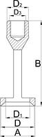 Втулки к приспособлению для снятия пружин клапанов - 2202.1/2 UNIOR, фото 2