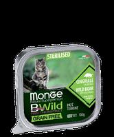 Monge BWild Cat Grain Free Pat? terrine Cinghiale кабана с добавлением овощей для стерилизованных кошек 100г